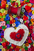 Objects Photo Acrylic Prints - Heart pushpin chusion  Acrylic Print by Garry Gay