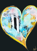 Anahi Decanio Mixed Media - Heart Series - 2 by Anahi DeCanio