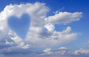 Heart Healthy Metal Prints - Heart Shape In Clouds, Conceptual Image Metal Print by Tony Craddock