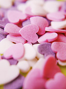 Heart Shape Prints - Heart Shaped Candies Print by Rolfo