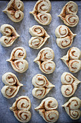 Food And Drink Art - Heart Shaped Cinnamon Buns by Helena Schaeder Söderberg