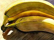 Bananas Paintings - Heart Smart by Catherine G McElroy
