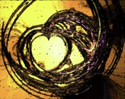 Valentines Day Digital Art - Heart Waves by Mary Morawska