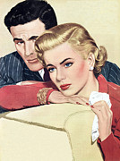 Forties Painting Posters - Heartache Poster by English School