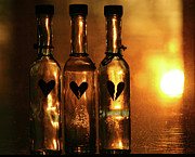Heartbreak Photo Prints - Heartache in a Bottle Print by Kerry Kralovic