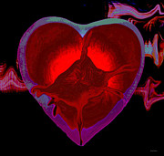 Abstract Hearts Digital Art - Heartbeat by Linda Sannuti