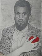 Kanye West Drawings Originals - Heartbreak Kanye West by Kevin  Williams