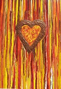 Abstraction Framed Prints Mixed Media Posters - Heartbreaker Poster by Jane Biven