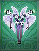 Burlesque Metal Prints - Heartbreakers Metal Print by Cristina McAllister
