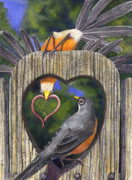 Thrush Prints - Heartfelt Print by Catherine G McElroy