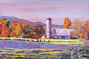 Roads Paintings - Heartland Morning by David Lloyd Glover