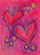 Passionate Paintings - Hearts 10 by Nancy Matus