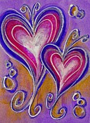 Childrens Prints Paintings - Hearts 9 by Nancy Matus