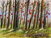 Williams Drawings Prints - Hearts at Dusk Print by John  Williams