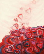 Jesus Art Painting Framed Prints - Hearts Given to God Framed Print by Deborah Brown