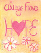 Hope Pastels Metal Prints - Heartww165  Artwithheart.com Metal Print by Patricia Marie Amber Sorenson
