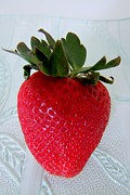 Hearty Prints - Hearty Red Strawberry Print by Mary Deal