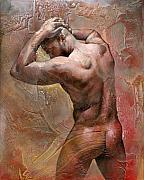 Nude Male Paintings - Heat by Chris  Lopez