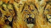 Lion Pastels - Heat Exchange by Arlene Rabinowitz