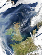 North Sea Prints - Heath And Moorland Fires, Uk Print by Nasa