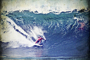 Sports Digital Art - Heath Joske Surfing Pipeline by Paul Topp