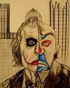 The Dark Knight Drawings - Heath Ledger as The Joker by David Smith