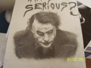 The Dark Knight Drawings - Heath Ledger as The Joker by Michael Hild