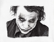 Batman Drawings - Heath Ledger by Rosalinda Markle