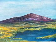 Cliffs Paintings - Heather Mountain by Conor Murphy
