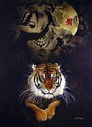 Tiger Painting Posters - Heaven and Earth... Poster by Will Bullas