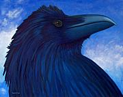 Raven Framed Prints - Heaven bound Framed Print by Brian  Commerford