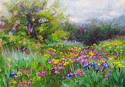 Wildflowers  Painting Prints - Heaven Can Wait Print by Talya Johnson