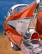 57 Chevy Painting Framed Prints - Heaven is a 57 Framed Print by Diane Morgan