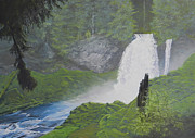Waterfall Pastels Originals - Heaven by Richard Laycock