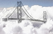 Golden Gate Pastels Posters - Heaven so near Poster by Stefan Kuhn
