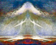 Other World Posters - Heavenly Angel Abstract Poster by Zeana Romanovna