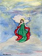 Peace Doves Paintings - Heavenly Angel  by Carol Komassa