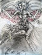 Angel Drawings - Heavenly Angel by Yelena Rubin