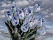 Blue Flowers Posters - Heavenly Blue Poster by Joachim G Pinkawa