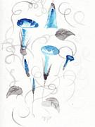 Heavenly Blue Print by Oiyee  At Oystudio