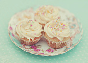 Cream Color Posters - Heavenly Cupcakes Poster by Karin A photography