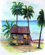 Tropical House Pastels Prints - Heavenly Print by Karin Best