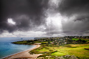 Simon Bratt Photography Prints - Heavenly Light on Golf Course Print by Simon Bratt Photography