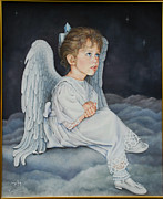 Night Angel Paintings - Heavenly Messanger -Mahalahk by Ruth Gee
