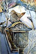 Dove Drawings Metal Prints - Heavenly Peace Metal Print by Mindy Newman