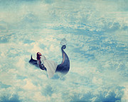 Surrealistic Digital Art Prints - Heavenly Rest Print by Aimelle