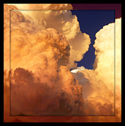 Heaven Digital Art Prints - Heavenly Square 2 Print by Carol Groenen