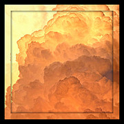 Roiling Prints - Heavenly Square 4 Print by Carol Groenen