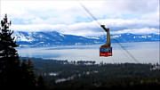 Ski Resort Framed Prints - Heavenly Tram South Lake Tahoe Framed Print by Brad Scott