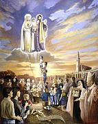 Fatima Paintings - Heavens Call To The Family by Mark Sanislo